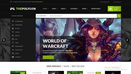 The Polygon v1.1.5 - Игровой WordPress шаблон infovip.biz.jpg